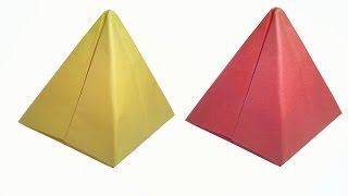 How to make Paper Pyramid ( very easy ) : DIY Crafts