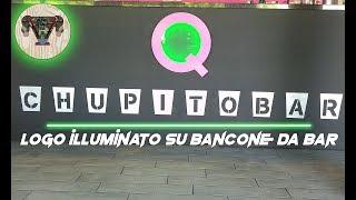 Logo illuminato per Bancone da Bar- Alfre fai da te