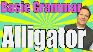 Basic English Grammar Lesson about a Alligator Walking Across a Golf Course