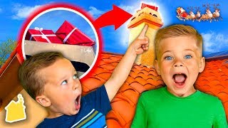 We Found a Missing Christmas Present On Our House! 🎁