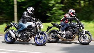 Yamaha MT-07 vs Suzuki SV650 Review Motorcycle Road Test