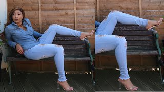 OUTFIT OF THE DAY | ALL DENIM | EGO HEELS