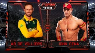 AB de Villiers VS John Cena - 1-vs-1 Bacstage Brawl