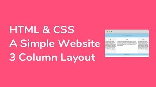 How to Create a Simple Website ( TypeC : 3 Column Layout ) with HTML and CSS