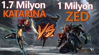 BIÇAKLAR HAVADA UÇUŞACAK! OTP'lerin vs'si. League of legends - Katarina vs Zed