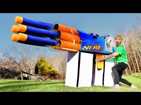 World's Largest Nerf Gun Shoots