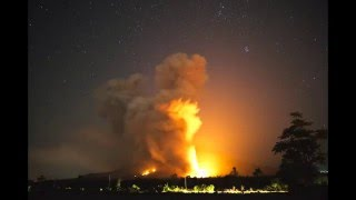 Sinabung volcano eruption on 2016-02-26. Part 1 (Available in 4K)