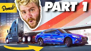 We FINALLY Drove Under a SEMI TRUCK! | How to Stunt - PART 1