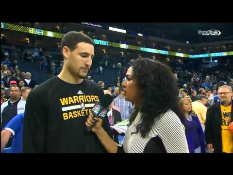 Ridiculous Klay Thompson Post-Game Interview