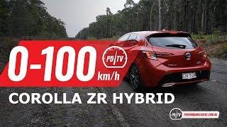 2019 Toyota Corolla ZR Hybrid 0-100km/h & engine sound