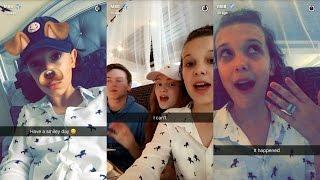 Millie Bobby Brown ► Snapchat Story ◄ 28 April 2017 w/ Noah , Finn , Sadie & Caleb