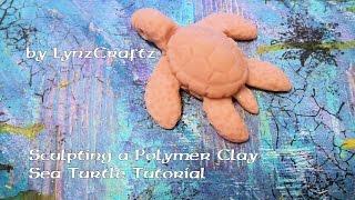 Polymer Clay Simple Sea Turtle tutorial DIY