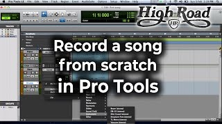 Pro Tools Tutorial - Beginner - Record a song from scratch