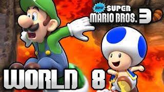 New Super Mario Bros. 3+ Part 8 - World 8 (4 Player)
