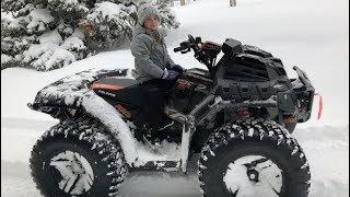 Little girl gets MASSIVE ATV stuck!