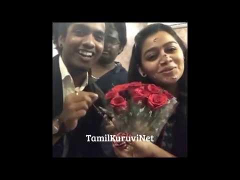 Vijay TV yuvraj gayathri birthday celebration New Video