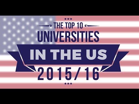 The Top 10 Universities in the US 2015/16!