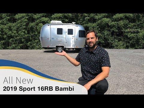 2019 Airstream Sport 16RB Bambi Walk Through Travel Trailer Small Light Weight Caravan Camper