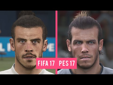 FIFA 17 Vs PES 17: Real Madrid Faces Comparison