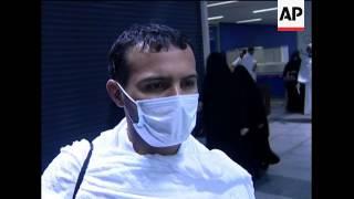Four pilgrims die from swine flu, pilgrims arriving, flu prevention