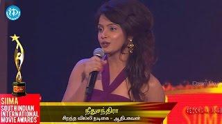 SIIMA 2014 || Tamil Best Actor in Negative Role || Neetu Chandra