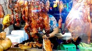Asian Street Food - Popular Meat Stall Along Monivong Blvd - Phnom Penh