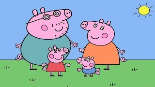 Peppa Pig Cartoon Coloring Pages Funny Video For Children Learn And Have Fun