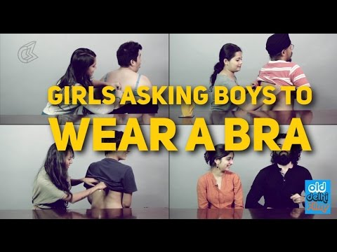 Girls asking Boys to wear a BRA | Girls sharing Bra Problems #Bras4Bros