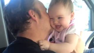 Daddy and baby kisses and cuddles- so adorable