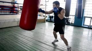 Бокс Работа на мешке