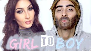 MAKEUP TRANSFORMATION: Girl to Boy! - Lufy
