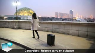 Cowarobot   Robotic carry on suitcase