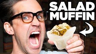 Caesar Salad Muffin Taste Test