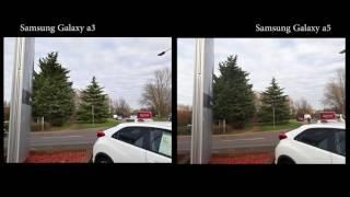 Samsung Galaxy a3 vs Samsung Galaxy a5 Camera test outdoor. 4K