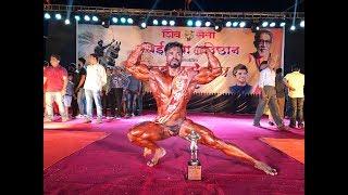 Ritesh Naik again winner in bodybuilding at Shivsena Vasai Yuva Pratishthan
