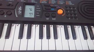 Enna Sona on Keyboard Piano |ok jaanu Keyboard~EASY TUTORIAL for beginners.