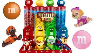 Best Learning Colors Video for Children Paw Patrol Eat Count M&M