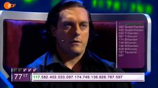 Supersmart German guy with numbers