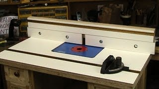 Router table top and fence
