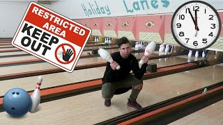 24 HOUR OVERNIGHT CHALLENGE IN A BOWLING ALLEY |  *BEHIND THE SCENES*