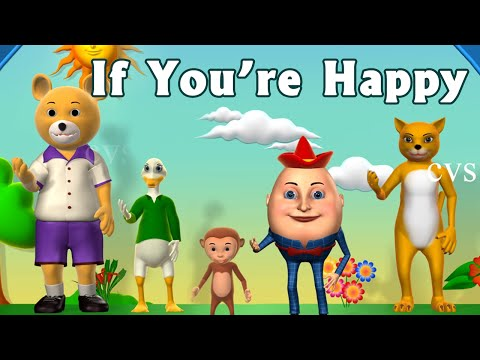 Xxx Mp4 If You Re Happy And You Know It Clap Your Hands Song 3D Animation Rhymes For Children 3gp Sex