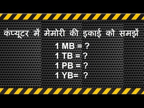 kb mb gb tb equals to   memory file size for  competitive exam computer. कंप्यूटर मेमोरी