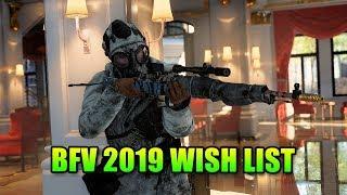 Battlefield 5 2019 Wish List