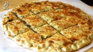 عجينة الفطير الشرقي/خبز الفطير الشرقي المحشي (مورق, مقرمش وطري) Baked Feteer