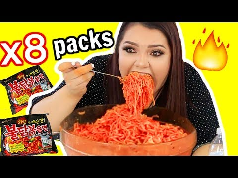 Extreme Spicy Noodle Challenge! *GONE WRONG* Vomit Warning