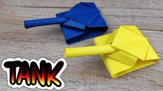 DIY Paper Tank Model | How to Making Paper Tank Toy | Kids Handmade Origami Easy Tutorials