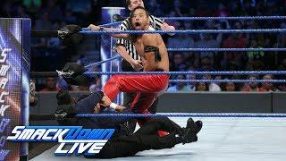 Shinsuke Nakamura vs. The Singh Brothers — 1-on-2 Handicap Match: SmackDown LIVE, Aug. 22, 2017
