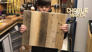 making- a really cool wall clock from pallet wood!