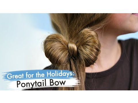 Ponytail Bow Back to School Cute Girls Hairstyles