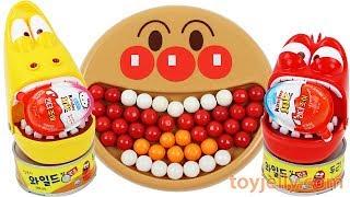 Larva Bubble Gum Surprise Kinder Joy Egg Kids Toys Learn Colors Anpanman Baby Plate Nursery Rhymes